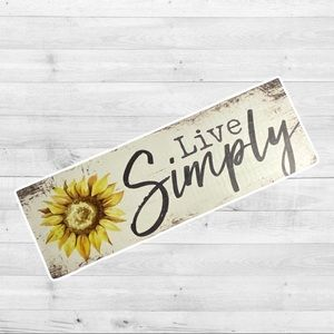 Sunflower 🌻 Live simply wood sign